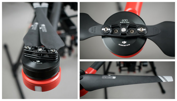 The Matrice 600 features 6 propellers and motors for added safety and power in flight