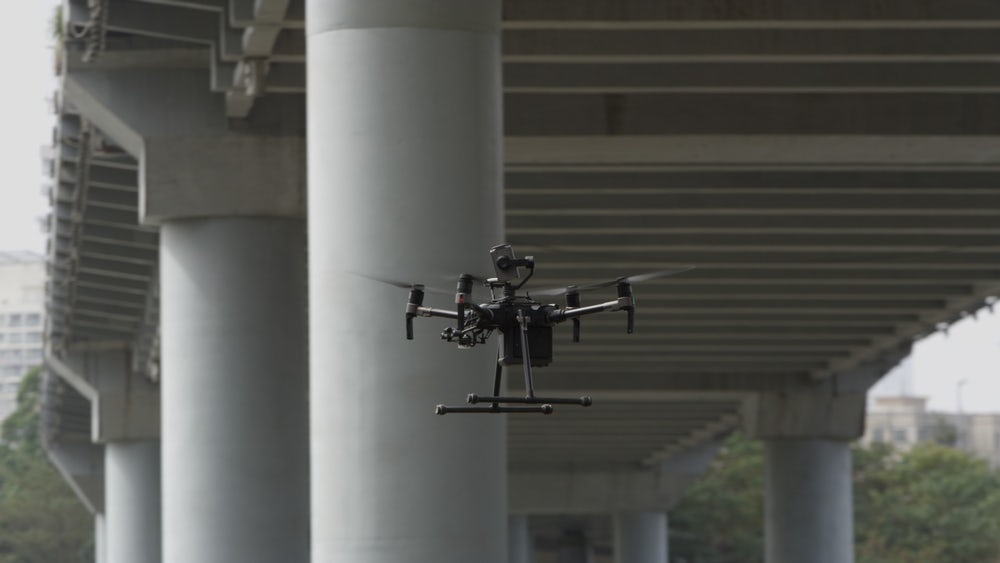 A camera can be attached on top of the drone to inspect the underside of bridges