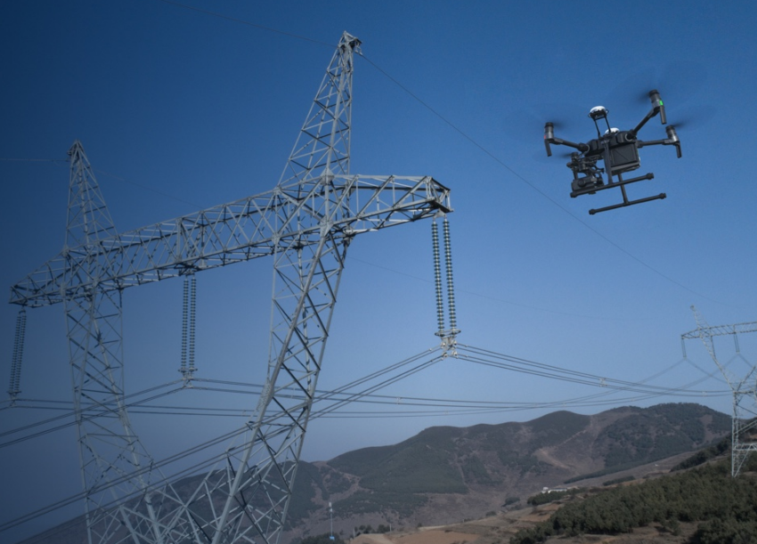 powerline drone