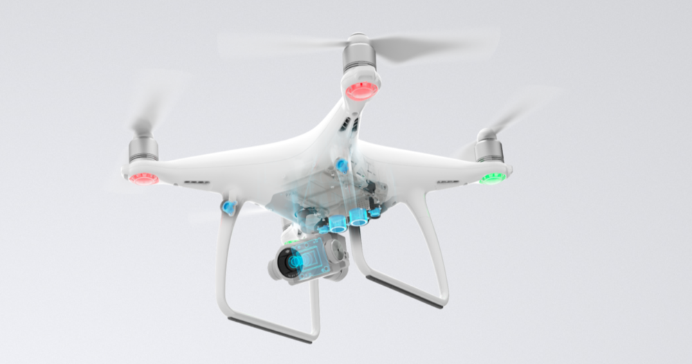 The drone features 5 sensors for extremely accurate and precise flights
