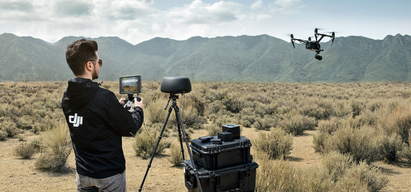 Tracktenna can easily extend the transmission signal of DJI Drones including the Inspire 2