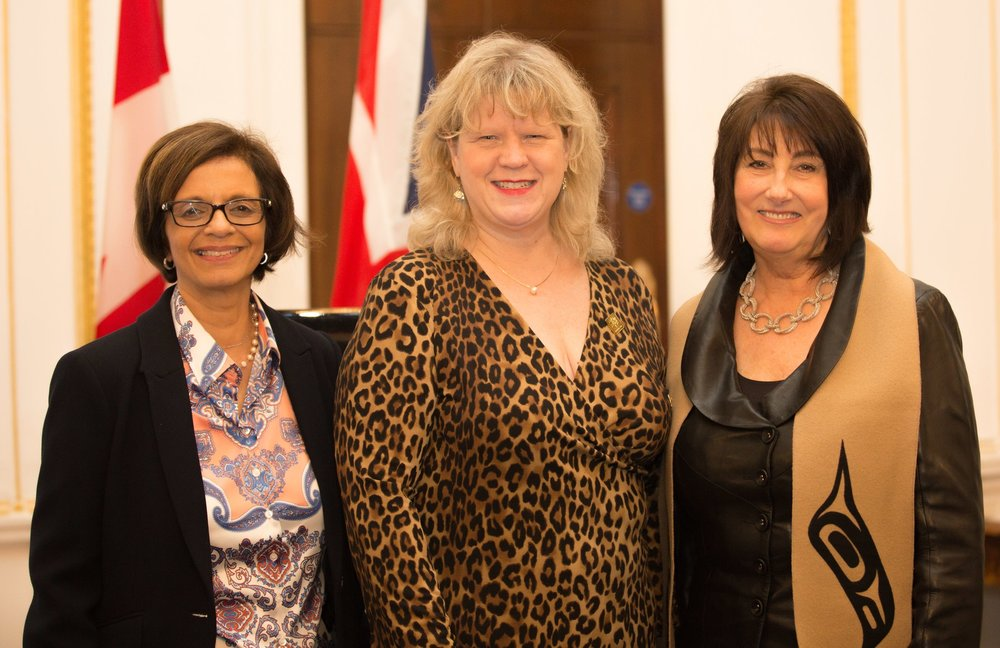 Tasneem Virani, HE Mrs Janice Charette (Canadian High Commissioner), Barbara Mowat (Founder of GroYourBiz)