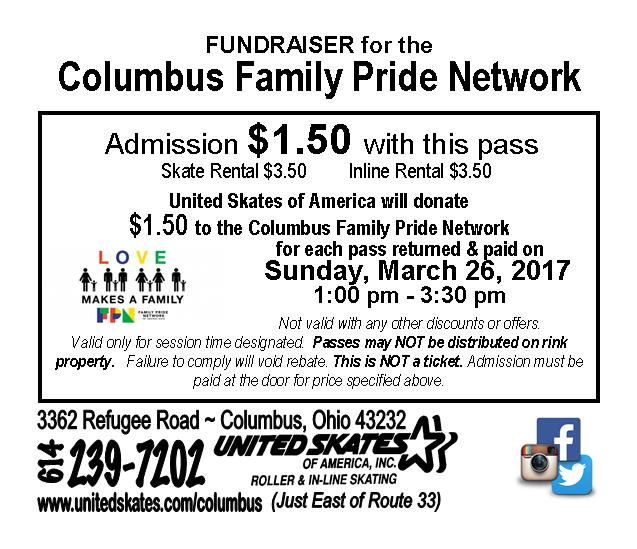 Past Event Rollerskating Fundraiser Family Pride Network