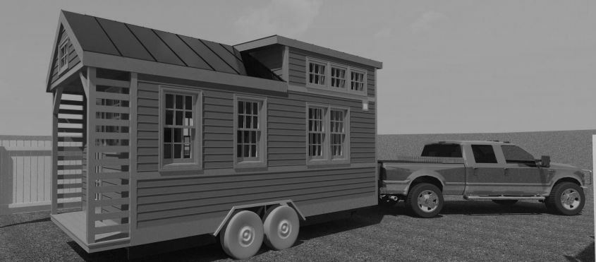 Towing Tiny House 3D Model