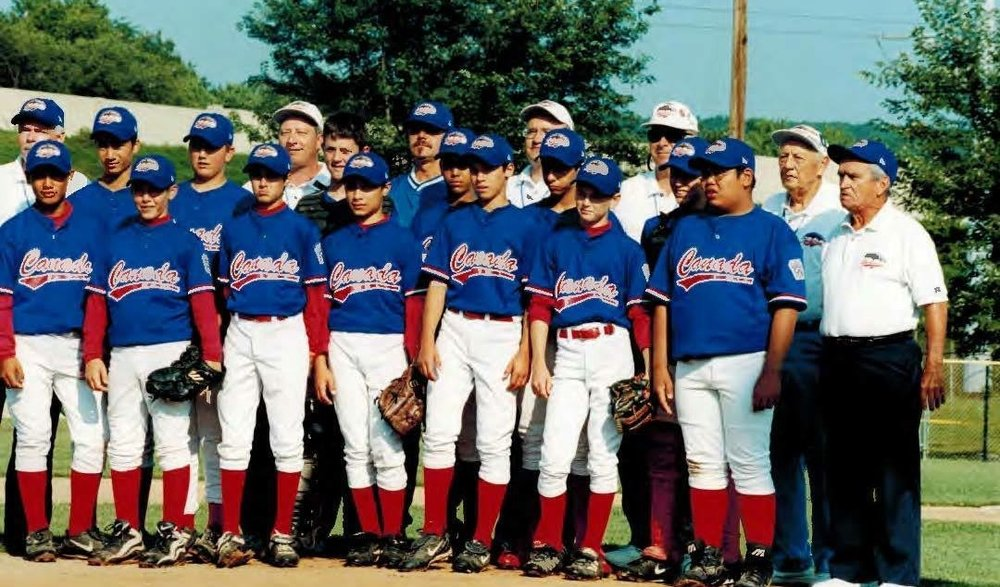 Toronto High Park Little League aka Team Canada circa 2000; I'm in the third spot from the left.