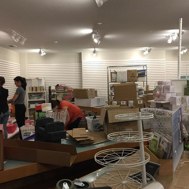 Elves have invaded and are readying our new digs for the Holiday Walkabout.  Opening Tuesday.#opening #newdigs #stationeryloft #ylakeland #downtownlakeland
