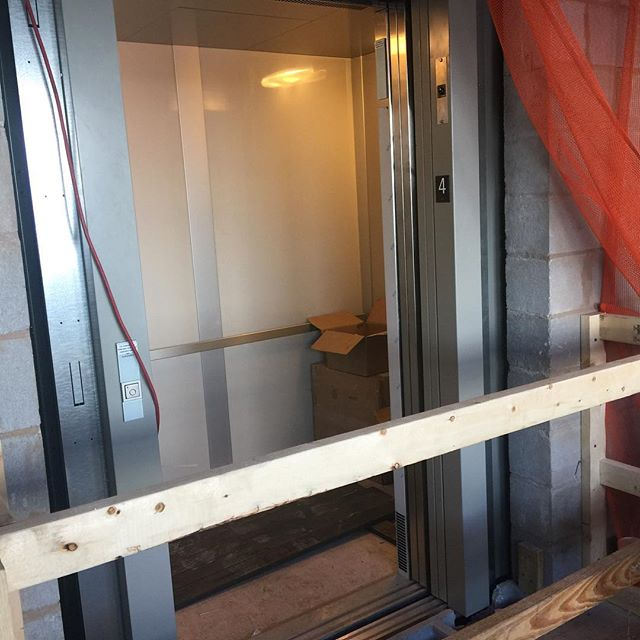 Yay! We have an elevator!! #movinonup