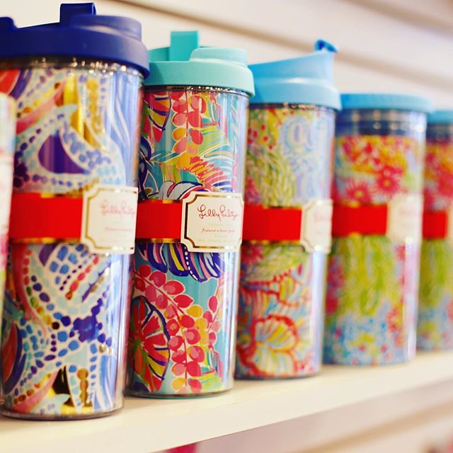 Add some happy to your morning joe. Cross the street for a quick fill. #morningjoe #lillypulitzer #mitchellscoffeehouse #downtownlakeland #ylakeland