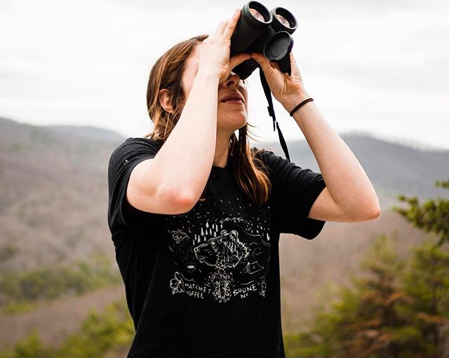 Fresh T-shirts are in! Stoked on this new design by @allycatttttt filled with Images inspired by Spring in the Appalachian mountains. Available online 💫 Link on the profile. #booneview #birdstagram #stonemountainnc