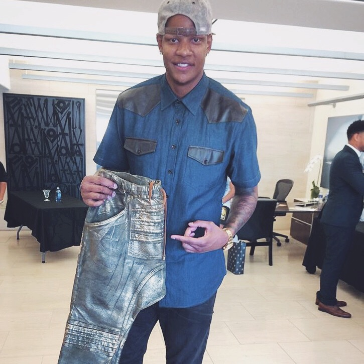 NBA Player Charlie Villanueva                      with Anonymous Jeans // ESPYS