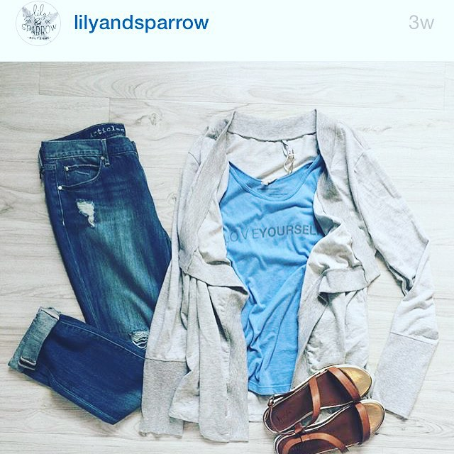 #Regram from @lilyandsparrow boutique...they are taking over our Instagram all day tomorrow! Be sure to check in and see what they're up to!💌👖 #ShowYourAOS #InstagramTakeover #LilyAndSparrow