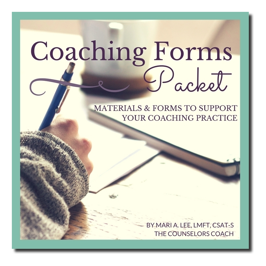 Coaching Forms Packet by the Counselors Coach Mari A Lee