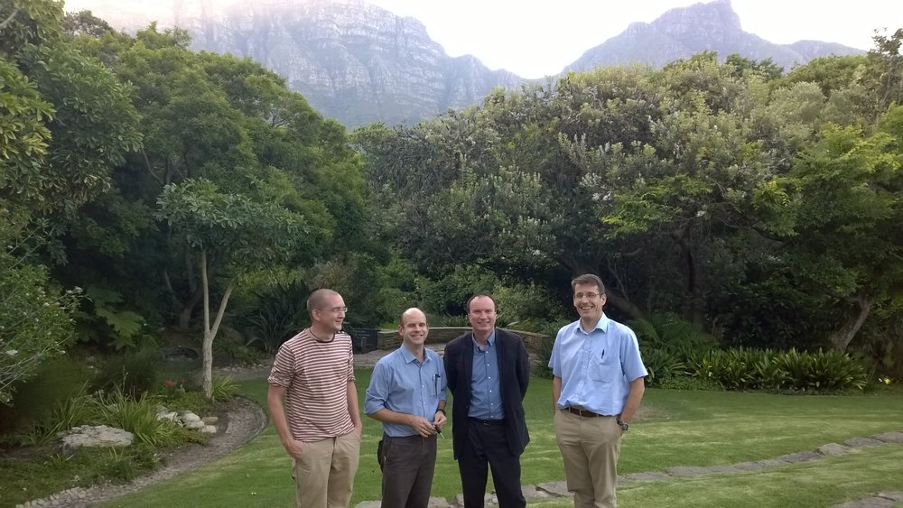 Image shows BREATHE partners on a previous visit to South Africa in 2015