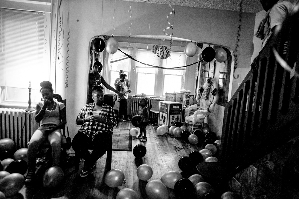 USA. Camden, New Jersey. August 1, 2013 : A baby shower in Camden. Camden is considered one of the most dangerous places in America. The city of 70,000 ended 2012 with 67 homicides.