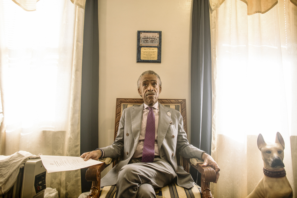 Reverend Al Sharpton, New York City, for The New York Times.