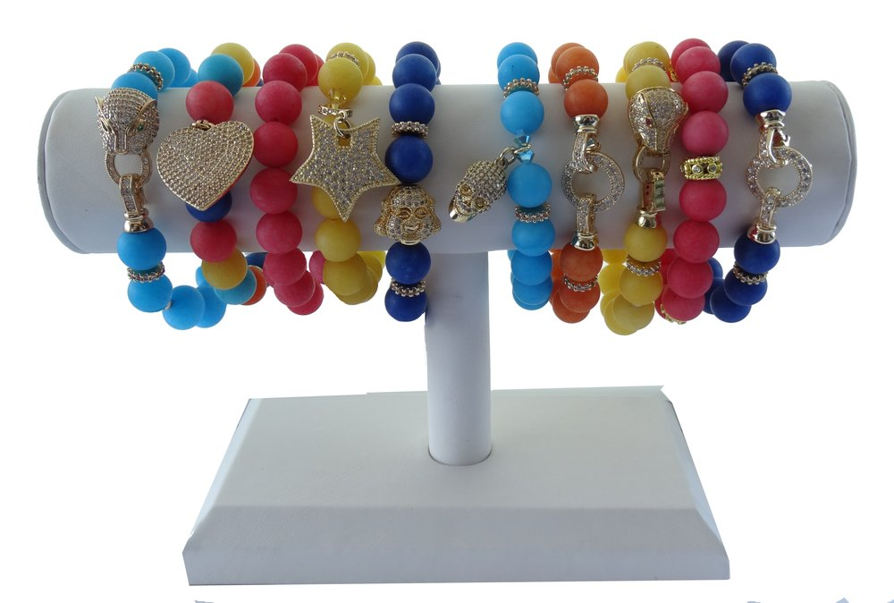 Set of 10 bracelets + Display 370.00 -