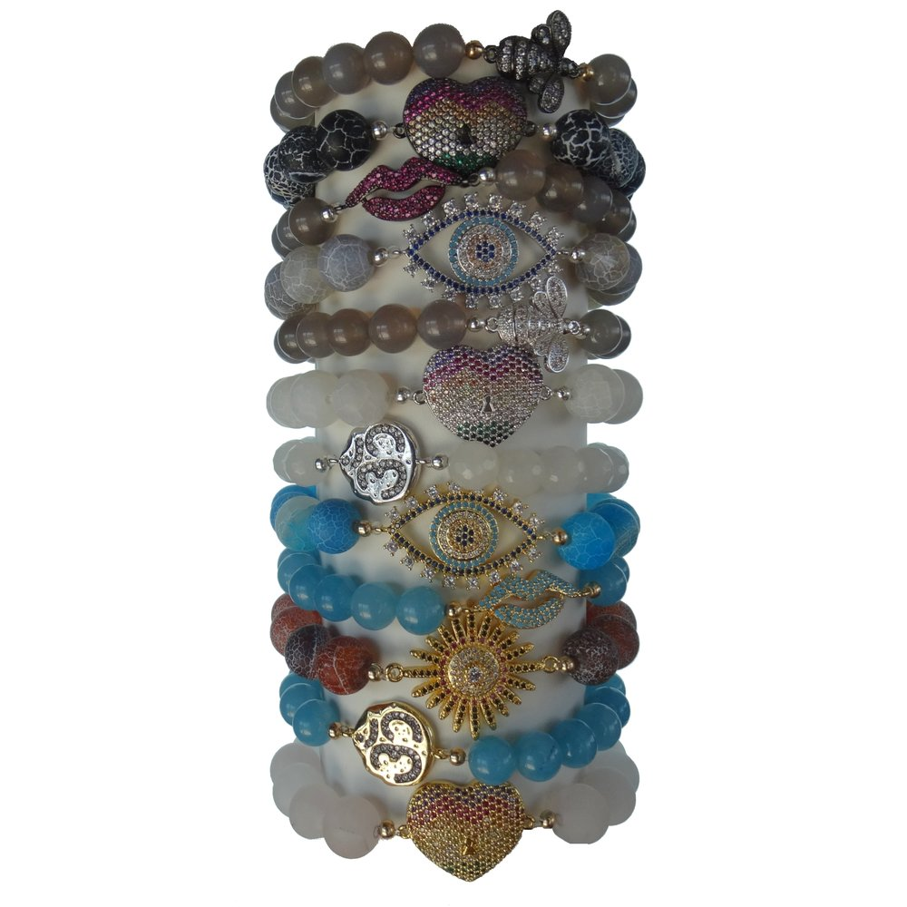"Newest Bracelets - Order ""A-La-Carte""ORSAVE 10% and Order a COLLECTION* 10 Large Bracelets*10 Smaller Bracelets$582.00 for LIMITED time plus DISPLAYValue $646.00"