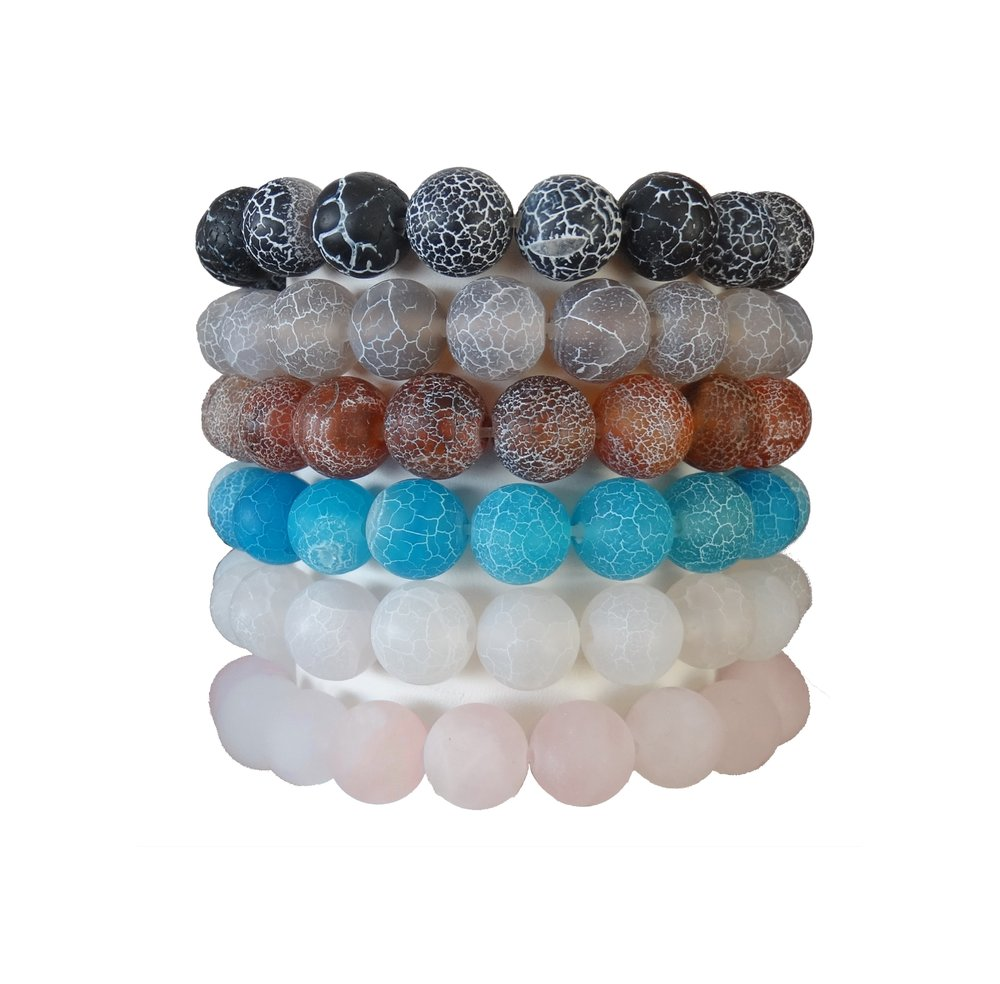 Onyx * Grey, Brown, Blue, White Agate * Rose Quartz