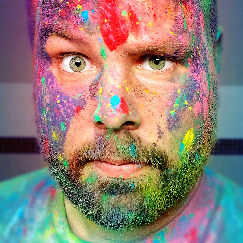 I'm a colorful guy—sometimes even literally.