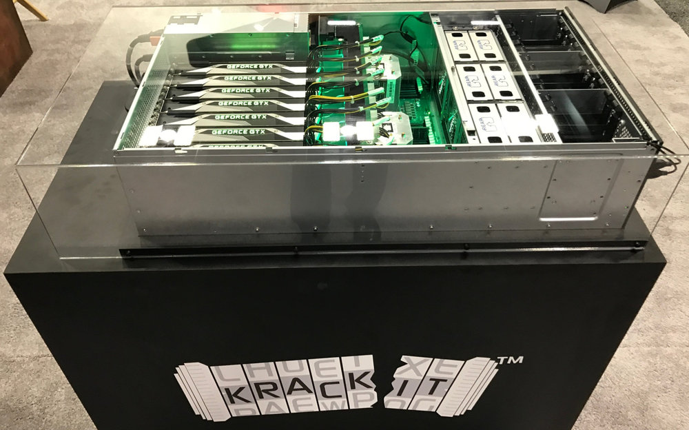 Kracken 3 - RSA Debut - Our 1st 8 GPU rig built in February 2017
