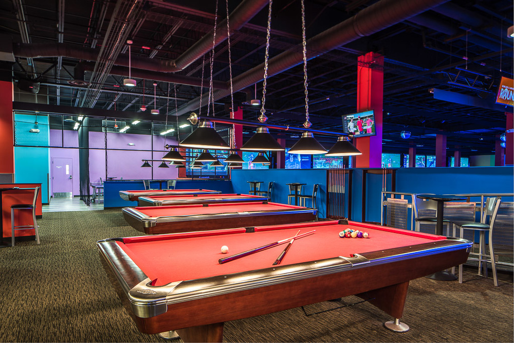 Round1 Bowling & Amusement Billiards Room