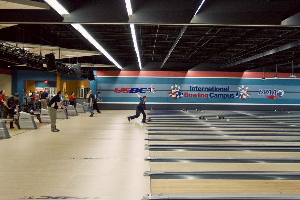 USBC Bowling Alley Bowlers in Action
