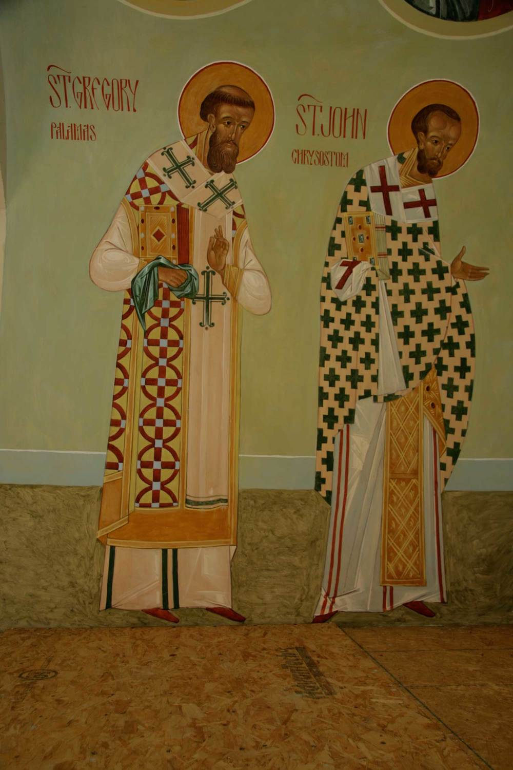 St Gregory Palamas and St John Chrysostom