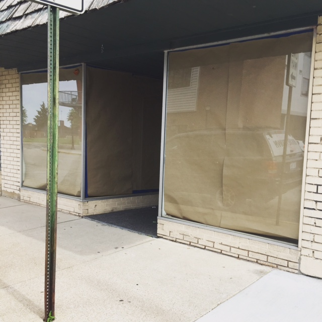 The outside of 107 5th St Bay City, Michigan where Ferne Boutique will open on August 7, 2015.