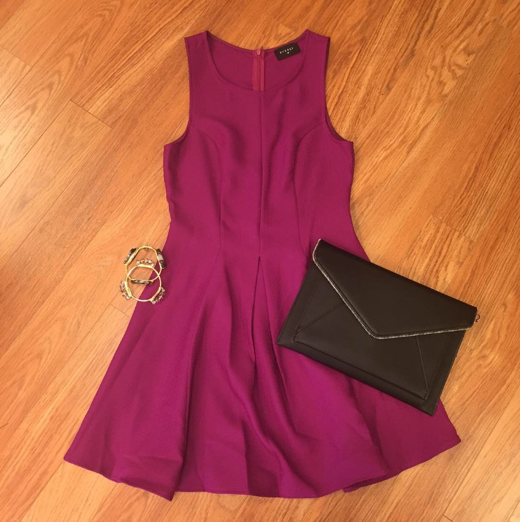 Pair this dress with a black envelope clutch and some Bourbon and Boweties bangles and you have a perfect outfit! Dress is $46, envelope clutch is $34, bracelets are $32 each.