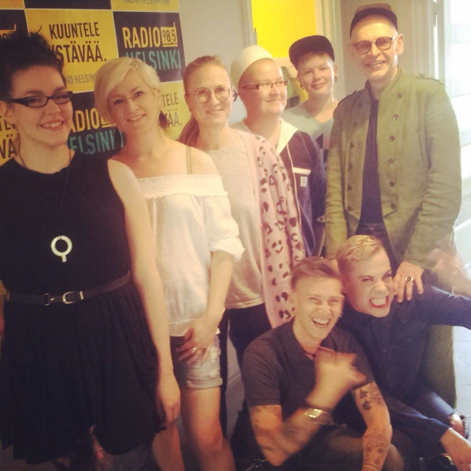 Maru at Radio Helsinki, during Helsinki Pride 2014