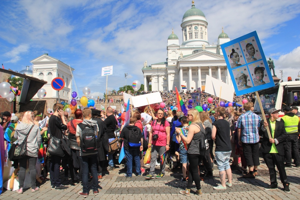 Transforces at Helsinki Pride 2015 parade