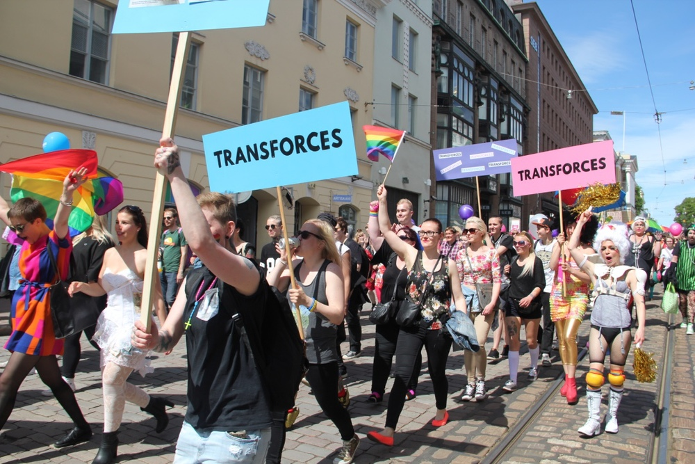 Transforces at Hki Pride 2015 parade