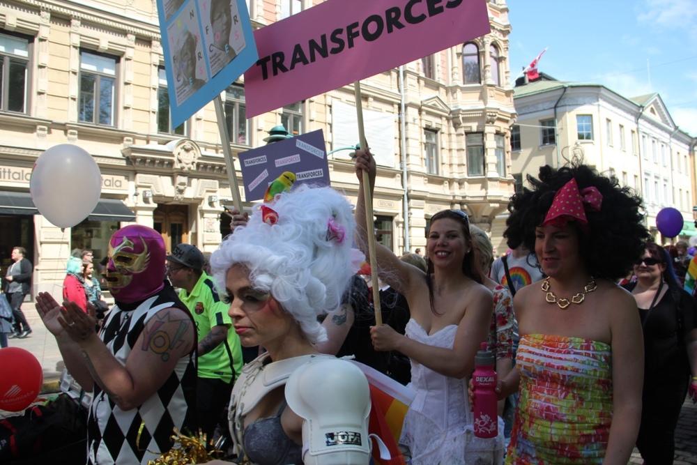 Transforces <3!!! Hki Pride 2015 parade