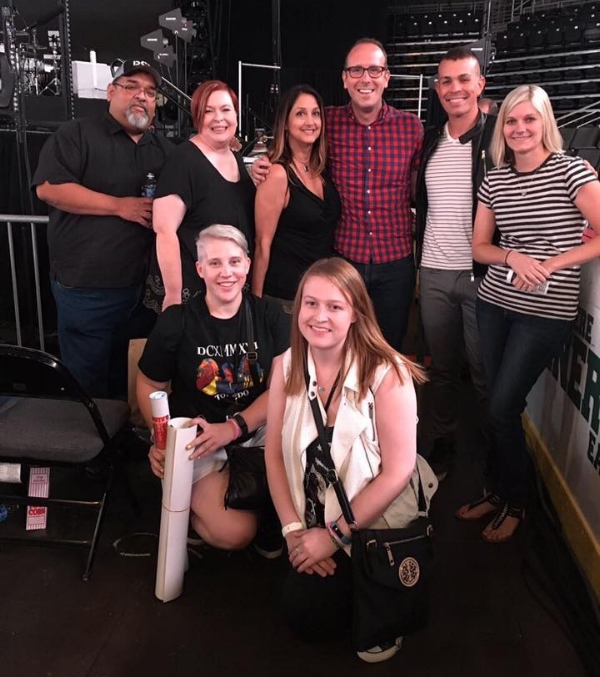 Michaela with other DCX Superfans in Toledo
