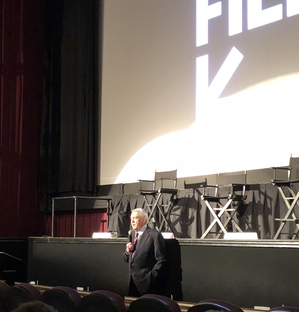 Dan Rather introduces the film.