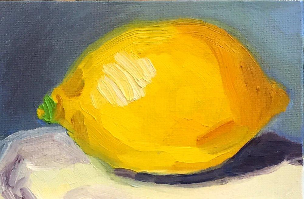 Little Lemon, 4x6, oil on canvas
