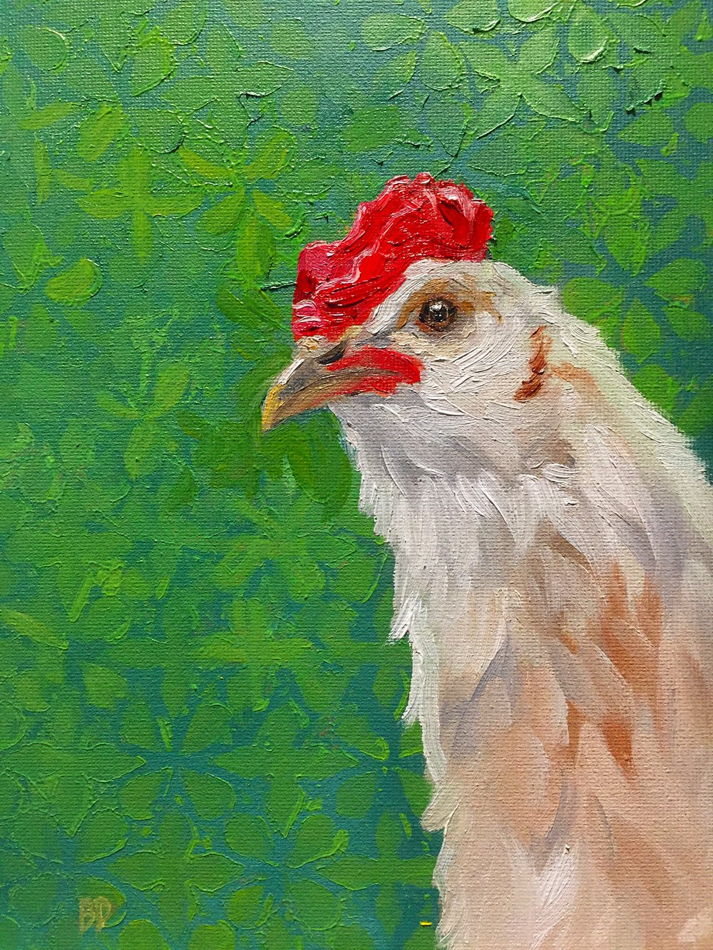 """Little Chick, 9.5 x 7"""", oil on canvas"""