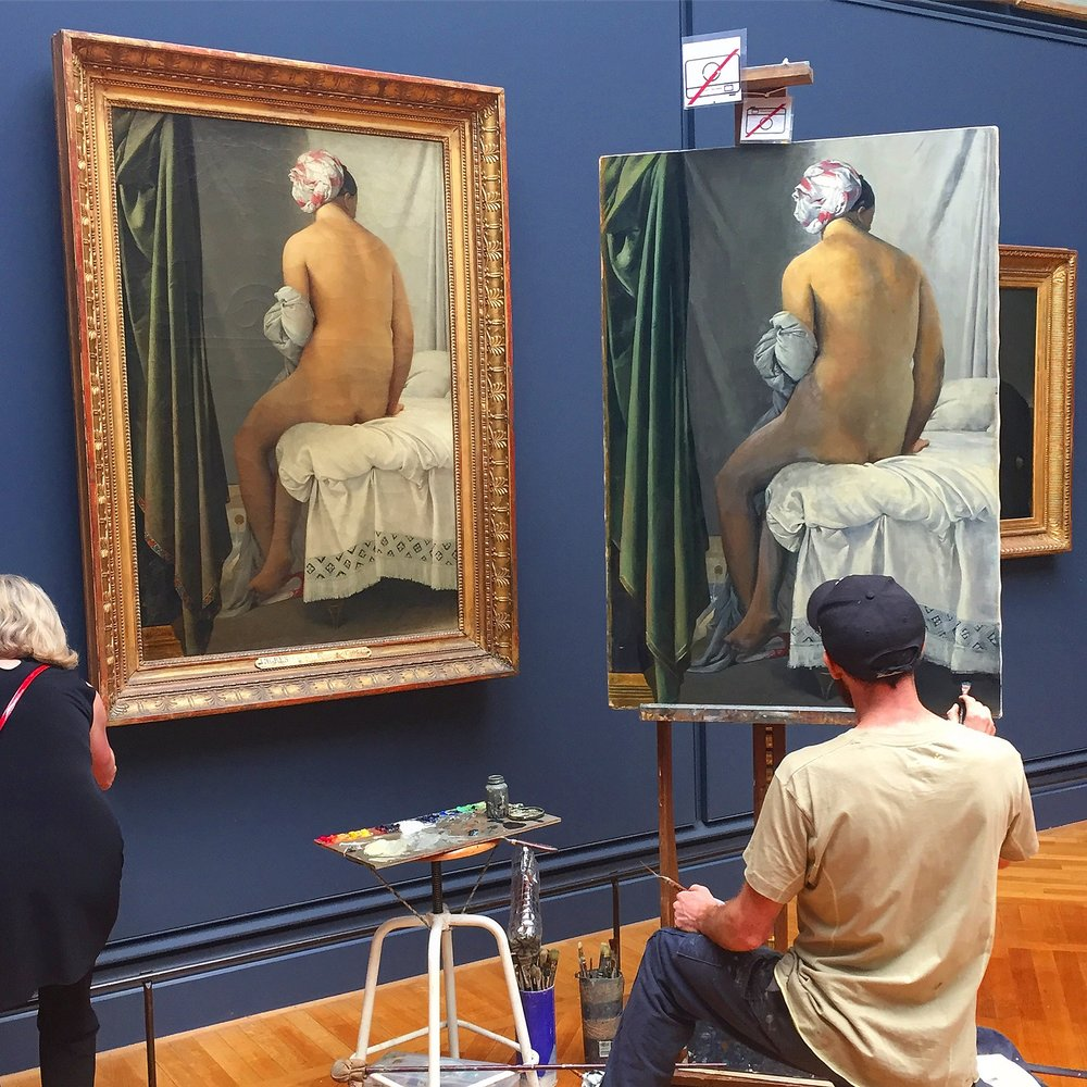 Copyist at the Louvre, this summer.