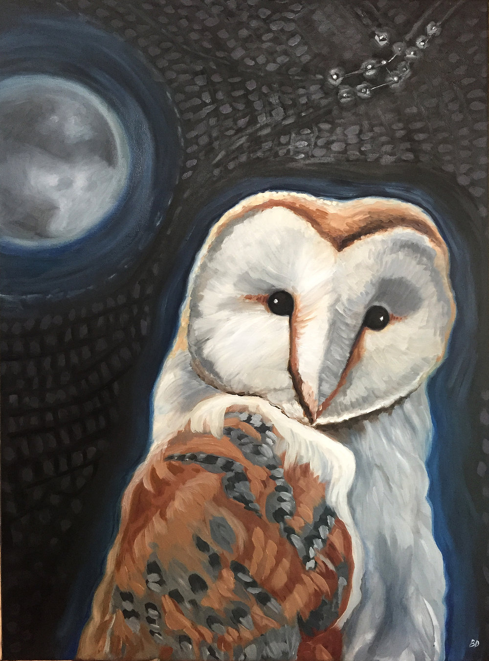 "Wisdom - Beth Dougherty, oil on canvas, 19.5"" x 27"""