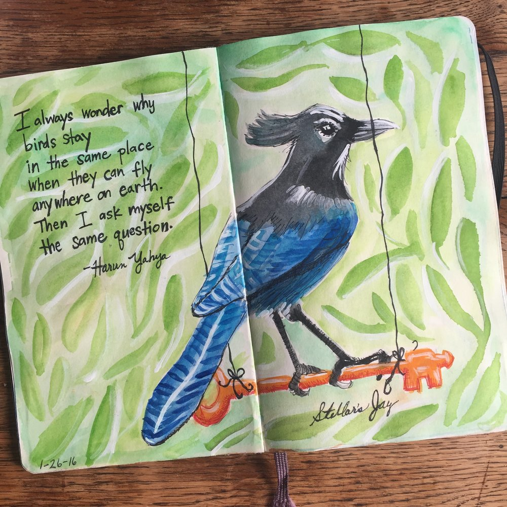 An art journal is a great place to collect inspiring quotes. (Beth Dougherty)