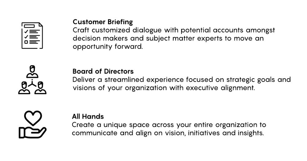 cxapp.io - types of meetings
