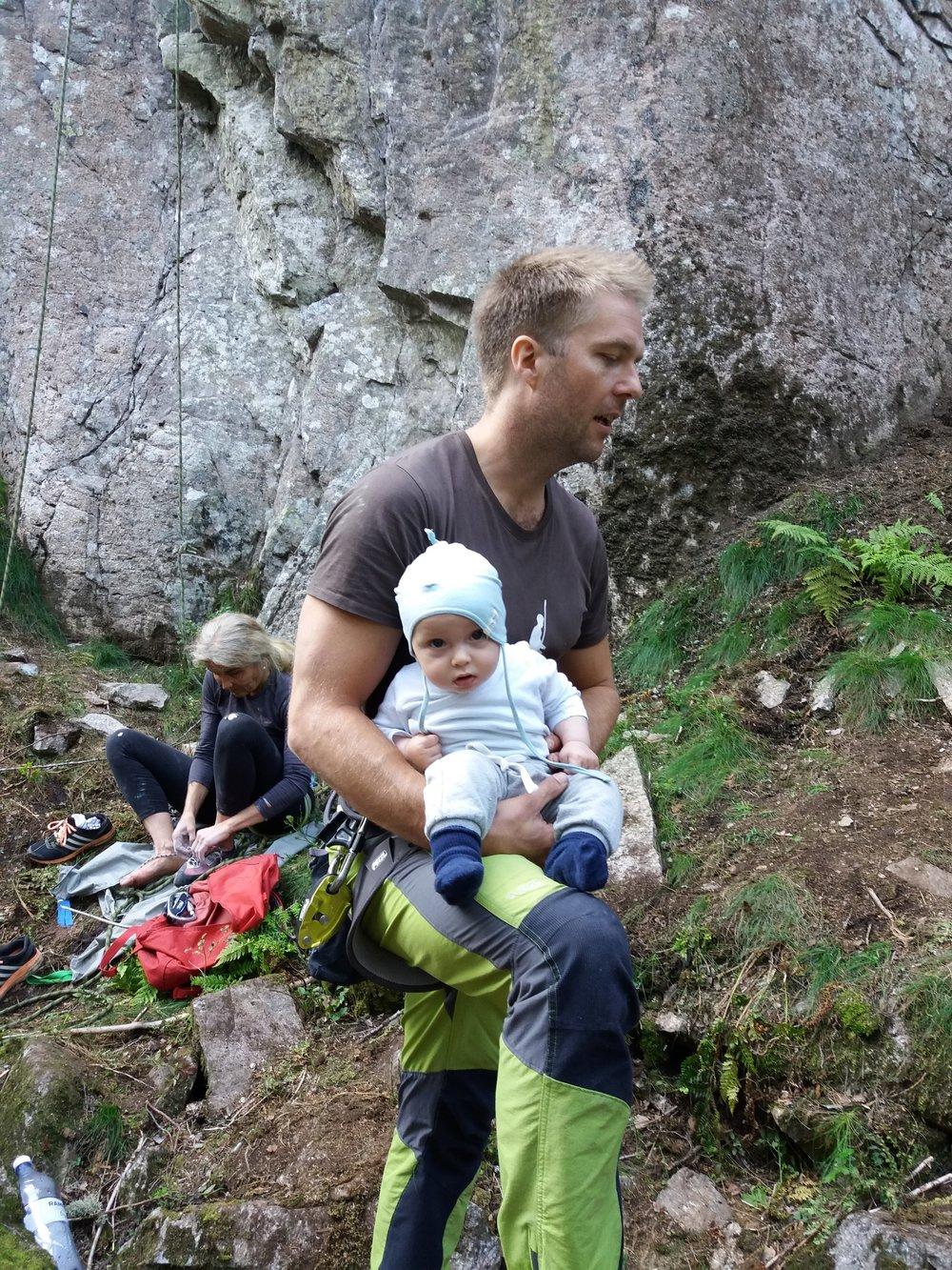 Både store og små klatrere besøkte arrangementet på Den Skjulte Veggen