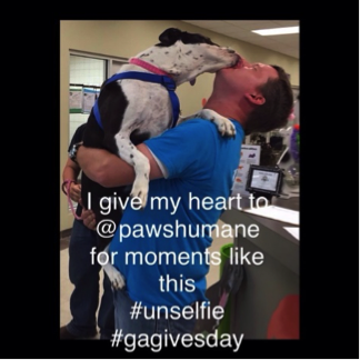 An #unselfie from #gagivesday