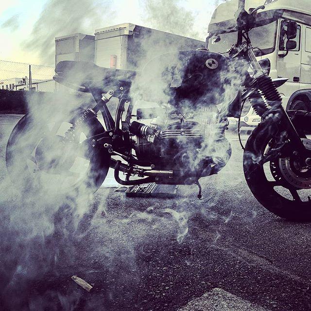 One smoking hot Bike!.! #bmwmotorrad #r80 #scrambler #caferacer #bikeshedmc #sitzdesign #ride #motorcycle #midnightblue #fiftyshadesofgrey #biker #seat #upholstery #saddler #motorrad #sattler #motorradsitz #salzburg #bikersworld #caferacer #dgr #weekend #bikeride #caferacergram #caferacersofinstagram #caferacerporn #crd #caferacerxxx #purekrad #newchurchfestival #tridays