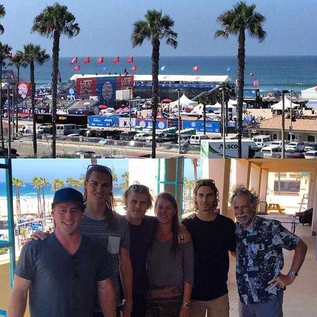 Epic morning with @alexsmith_ @koatree_ . Thank you @Surfline for giving us a front row seat to the @vans US Open of Surfing!!! @carvebar @deptofgood #modernadvocate #istartchange #deptofgood #carvebar #collaboration #uniteandamplify #surflife #vansusopenofsurfing #wsl #huntingtonbeach #surfline