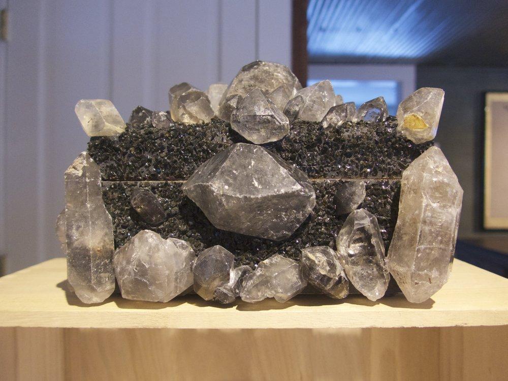 Dark Tibetan Quartz and Hematite Treasure Box by Nate Ricketts