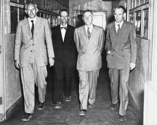 1959 Randolph Air Force Base, Texas-Dr. Fritz Haber, Konard Buettner, Strughold, and Dr. Heinz Haber