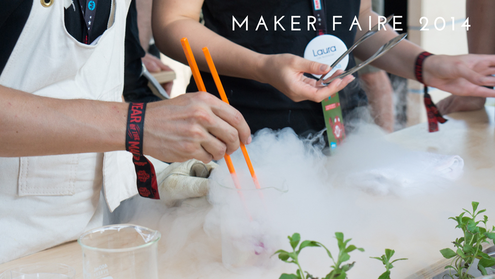 Future Food Studio took home best in class and two editors choice awards for their pop-up experimental beverage laboratory at World Maker Faire 2014 in New York City