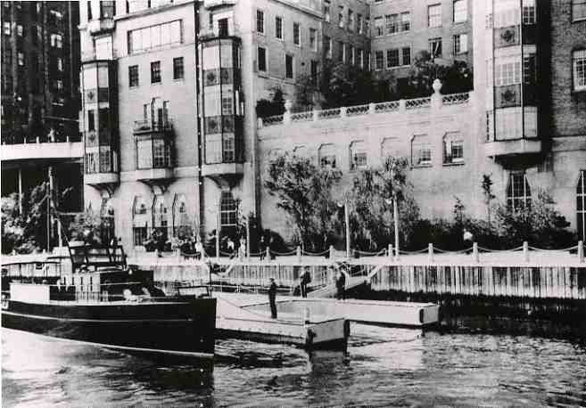 The Riverhouse yacht dock