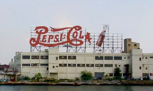 The now demolished Hunters Point Pepsi Bottling and Distribution Plant